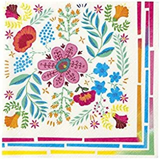 40 Fine Style Brand paper LUNCHEON size napkins FLOWERS pattern
