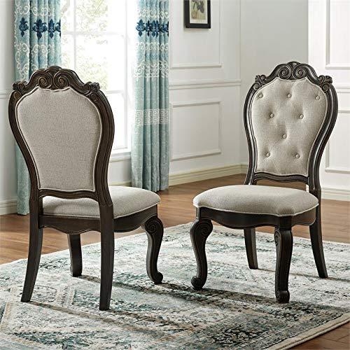 XPRESS WORLD Steve Silver Rhapsody Rich Dark Molasses Upholstered Side Chair (Set of 2)