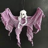 Decoraciones Halloween Decoración De Halloween Decoración Colgante Ghost Corpse Skull Head Capas Casa Embrujada Bar Hogar Jardín Decoración Suministros De Fiesta De Halloween