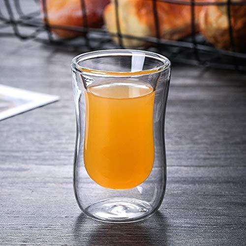 Taza de té de Vidrio de Doble Pared Taza de café Taza de Cerveza cómoda Prima no tóxica para té de Agua Potable