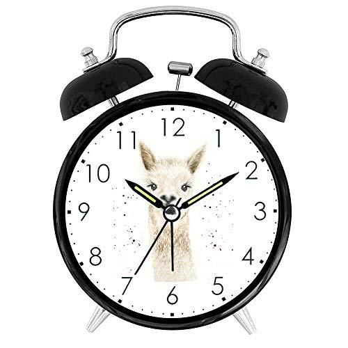 Sevenyee Tieruhr – niedlicher Lama-Wecker laut – Schlafzimmer-Uhr – Kinderuhr – 10,2 cm Wecker Quarz batteriebetrieben – Moderner kreativer Wecker rund für Kinderzimmer, Spielzimmer, Schlafzimmer