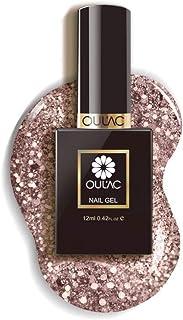 Oulac Gel Nail Polish Glitter Auburn, Soak Off UV Gel Nail Art Design, 12ml (Requires Curing under UV/LED Lamp)