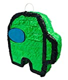 Impostor Gaming Themed Crewmate Mini Pinata Doubles As Classic Party Game Or Decoration Piece for Kids Birthday Parties (Green)
