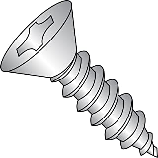 Type A Pan Head #8-15 Thread Size 7//8 Length Pack of 100 Black Oxide Finish Steel Sheet Metal Screw Phillips Drive