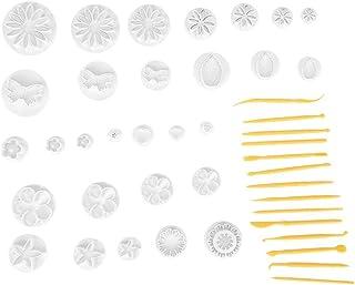 44pcsケーキ型 フォンダンカッター フォンダンケーキ成形ツールセット フォンダンカッター型 クッキーカッター ペストリーベーキング DIYケーキデコレーション 製菓用品セット ケーキ クリーム お菓子 飾り 誕生日 祝日 パーティー 装飾ツール