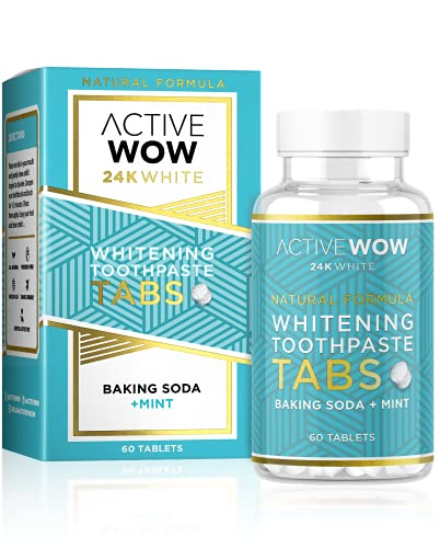 Toothpaste Tablets with Baking Soda and Mint Natural Teeth Whitening