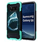 Galaxy S8 Case, Capsule-Case Quantum Hybrid Dual Layer Slim Armor Case (Teal Mint Green & Black) for Samsung Galaxy S8 SM-G950 SPHG950 - (Shark)
