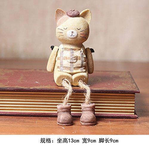 Desktop Tier Verzierungen schön anheben Klemme Puppen Dekorationen boudoir Honig Geburtstag Geschenk , kleine Katzen ausgesetzt Fuß Ornamente