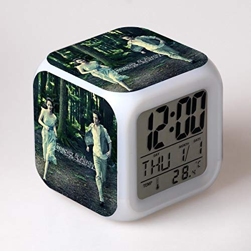 BMSYTY Despertador de Dibujos Animados crepuscular Juguetes para niños Reloj led Reloj Despertador Digital desesperado Reloj Despertador con luz electrónica Reloj Despertador