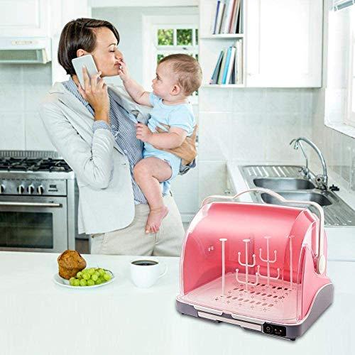 YYSDH 2020 New Baby Bottle stérilisateur à Vapeur Sèche-UV Lait pour bébé Bouteille de désinfection boîte pour la stérilisation, séchage, Lait Warming, Chauffage Alimentation Amovible,Rose