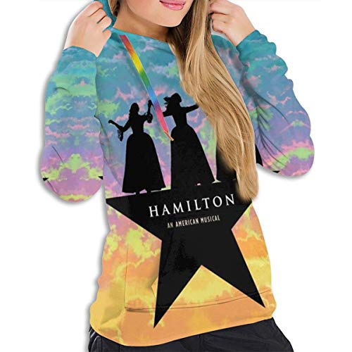 maichengxuan Women Hoodies Hamilton Logo Print Hoodies Pullovers Sweatshirt Black
