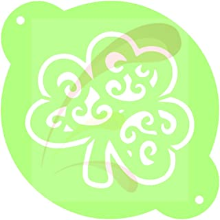 Lucky Charm, St Pat, shamrock, clove, Cookie stencil, Cake Stencil, Coffee Stencil, Candy Stencil, Cupcake stencil for Royal Icing, powders, sugars, edible glitters and Airbrushing (Shamrock 02)