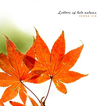 Late autumn letter