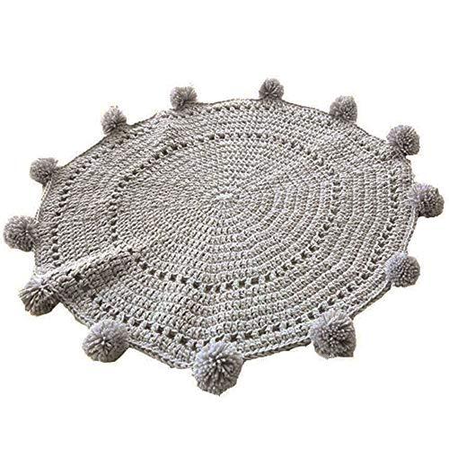 Runde Teppiche, super weiche gestrickte Teppiche, runde Teppiche, gehäkelte Decke, Bodenmatte, Kinderzimmer-Teppiche, Spielmatte, Baby-Krabbeldecke, 80 cm