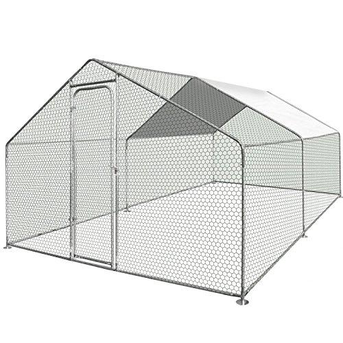 IDMarket - Enclos poulailler 12 m² Parc grillagé 4x3m Acier galvanisé