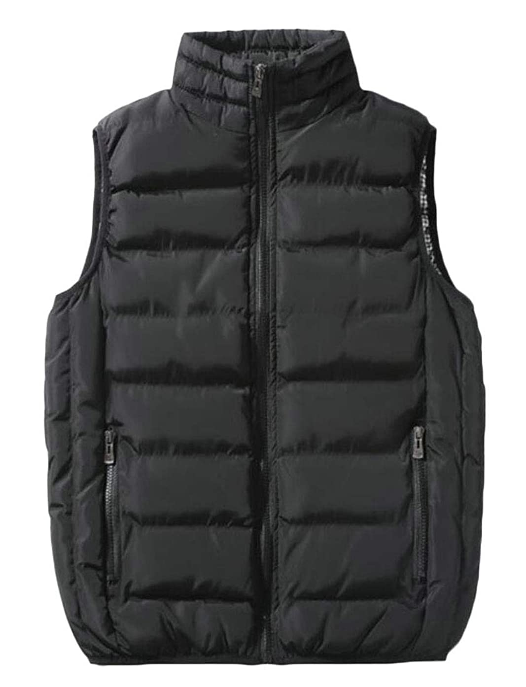 ouxiuli Men's Winter Thicken Down Puffer Vest Quilted Waistcoat Jacket
