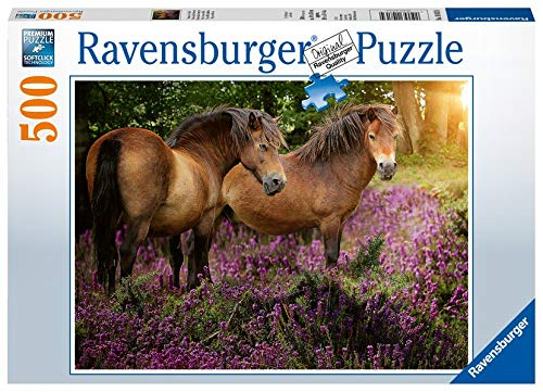 Ravensburger 14813 4 - Ponies in The Flowers Puzzle 500pc Jigsaw Puzzle
