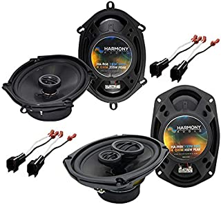 Harmony Audio R68 R69 Factory Replacement Speaker Upgrade Package Compatible with Ford Crown Victoria 1998-2011