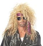 California Costumes Men's Heavy Metal Rocker Wig,Blonde,One Size