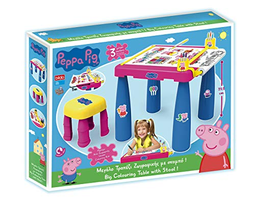 Bildo 8117 Peppa Pig - Mesa para Colorear con Taburete