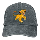 Baseball Caps, Original Exclusive Classic Lion Hat with Button and Sweatband Adjustable Tie Hats for Women Men