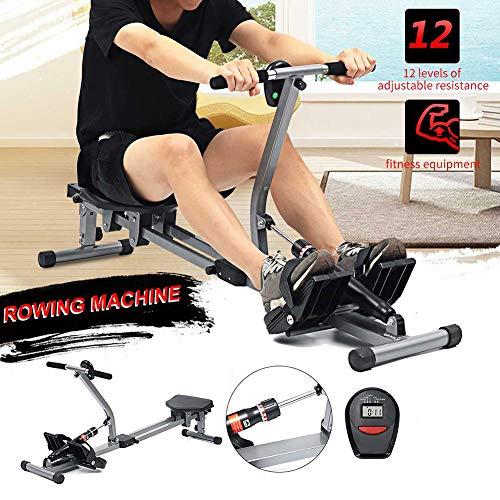 MJLXY Rudergerät Bauch Brust Arm Fitness Ausdauer Trainieren Körperrudern Indoor-Übung- Ausrüstung Fitnessstudio- Ausrüstung