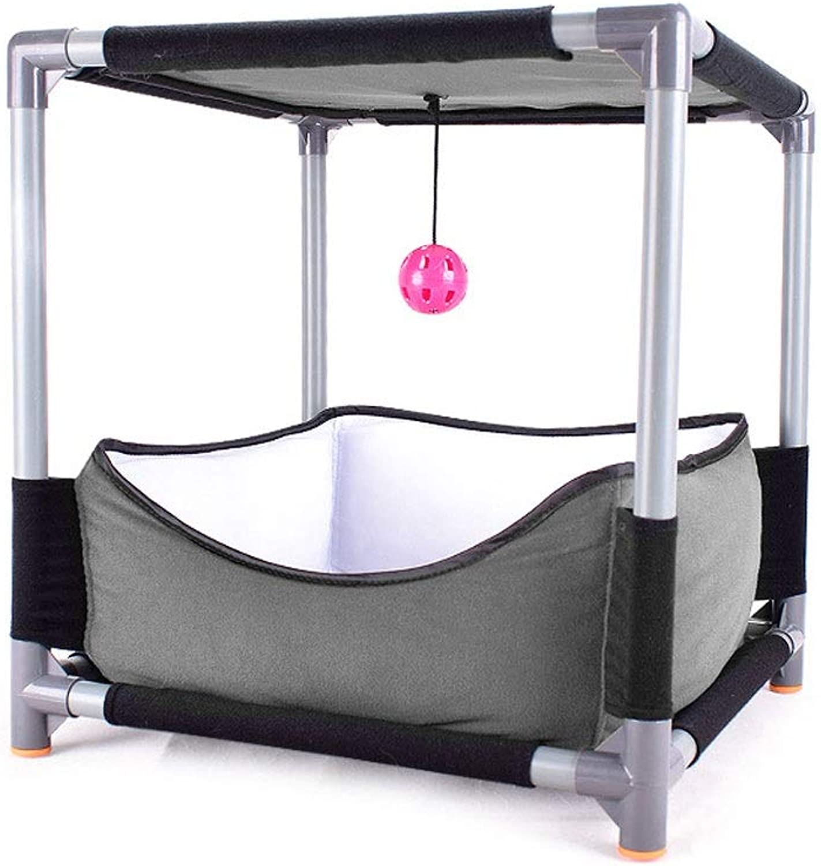 Cat Climbing Frame Double Cat Bed Cat Jumping Platform Cat Toy Detachable Combination Cat's Nest (Size   41  41  43)