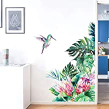 Holly LifePro Art Murals Tropical Nature Palm Tree Leaf Plants Green Leaves for Bedroom Living Room Classroom Offices Home Decoration Stick Wall Decals Style-4