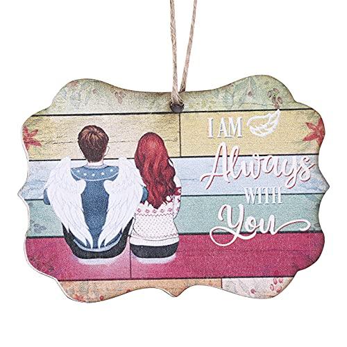 Adorno conmemorativo de Navidad, colgante de madera de Navidad, con texto en inglés 'Sisters Make The Best Friends', árbol de Navidad, decoración para el hogar, regalo romántico