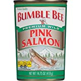Bumble Bee Premium Wild Pink Salmon, 14.75 Ounce Cans, 24 Count
