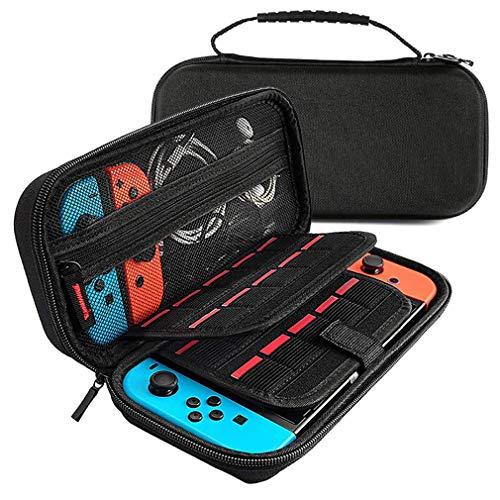 Portable Waterproof EVA Protection Bag, for Nintendo Switch Travel Storage Bag, with 20 Game Card Slots, for Nintendo Switch Accessories