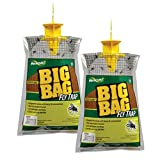 RESCUE! Big Bag Fly Trap – Large Capacity Disposable Outdoor Hanging Fly Trap - 2 Pack