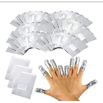 LUVODI 100PCS Tiras Quitaesmalte de Papel de Aluminio Removedor de Uñas con Toallitas de Algodón Elimina Esmalte para Uñas de Gel: Amazon.es: Belleza