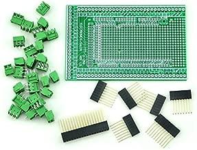 Electronics-Salon Prototype Screw/Terminal Block Shield Board Kit For Arduino MEGA-2560 R3.