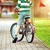 Weitong Heavy-Duty Fahrradwimpel Fahrradfahne für Kinderfahrrad Sicherheitswimpel fürLaufrad
