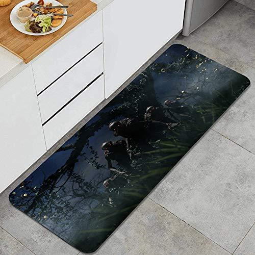 KASMILN Alfombra de Cocina,Bogeyman una Criatura de una Pesadilla,Alfombrilla de Cocina Antideslizante Gruesa(45*120cm