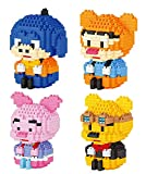 LNLJ Classic Winnie The Pooh And Friends Cartoon Building Blocks Micro Diamond Piglet Tigger Eeyore Building Block Toys for Children