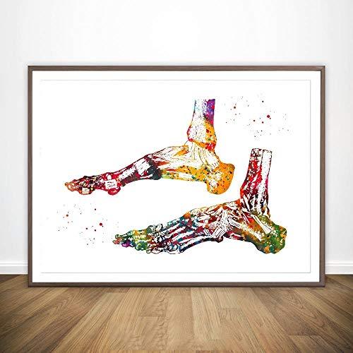 Ossa del Piede Quattro Tipi di neuroni a Mano vasi sanguigni Muscoli del Corpo Umano anatomico mediche e la Scienza Poster Home Office Decor No Frame Hanging Dipinti di Alta qualità