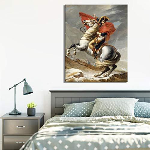 Danjiao Klassische Wanddekoration Plakate Und Drucke Wandkunst Leinwand Gemälde Frankreich Stratege Napoleon Bilder Für Wohnzimmer Ohne Rahmen Wohnzimmer 60x90cm