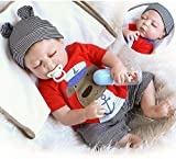 Realistic Reborn Baby Dolls Silicone Full Body Boy 22 inchs 55 cm Anatomically Correct Washable Toy Doll Handmade Sleeping Prime Gift Set