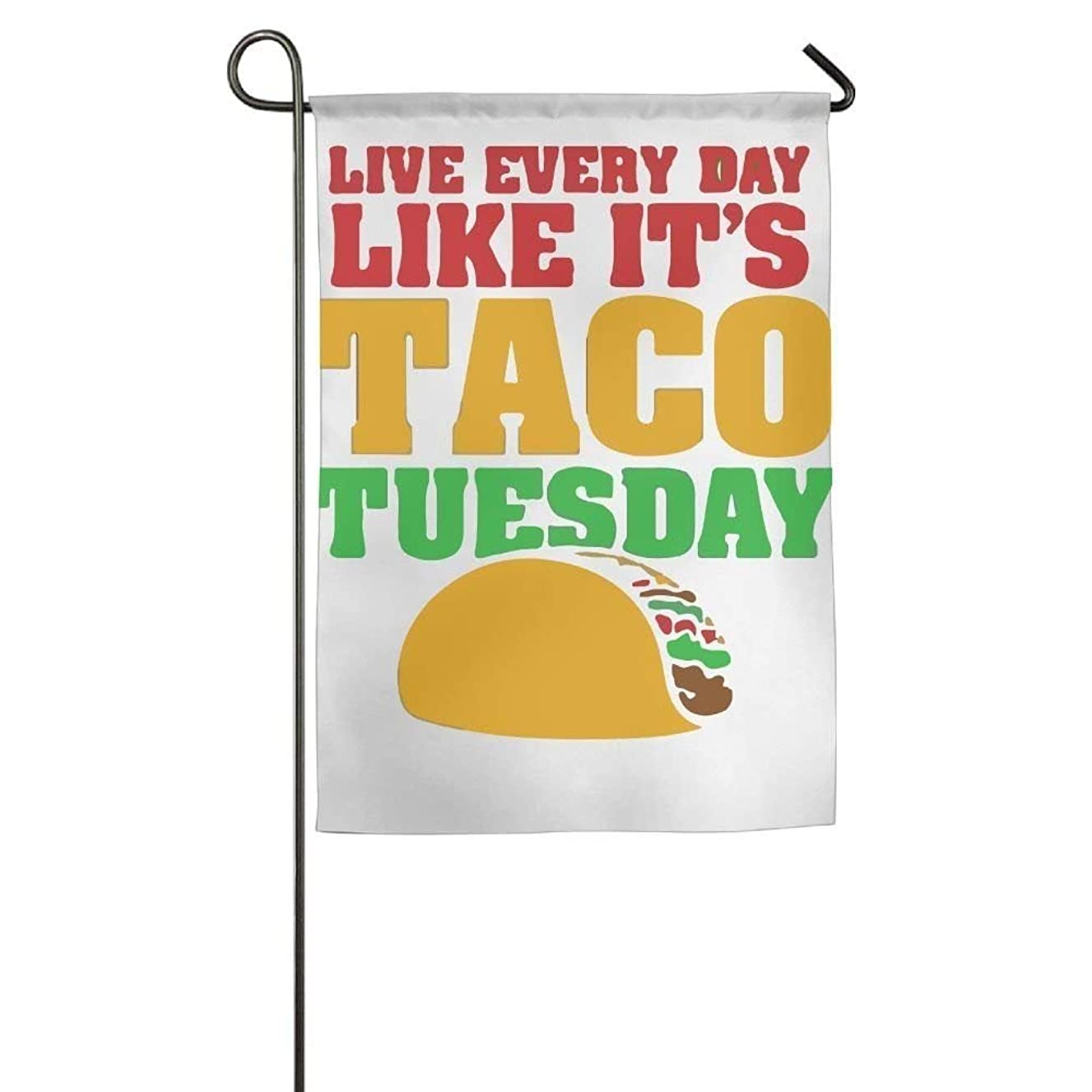 Taco Tuesday Spring Garden Flag Yard Flag 12