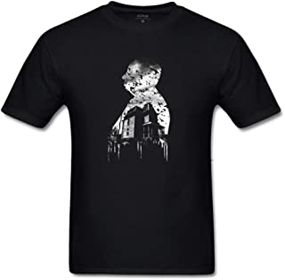 Men's Alfred Hitchcock Collage T Shirt Gift Idea Novelty Graphic Humor Sarcastic Cool Very Funny Tees