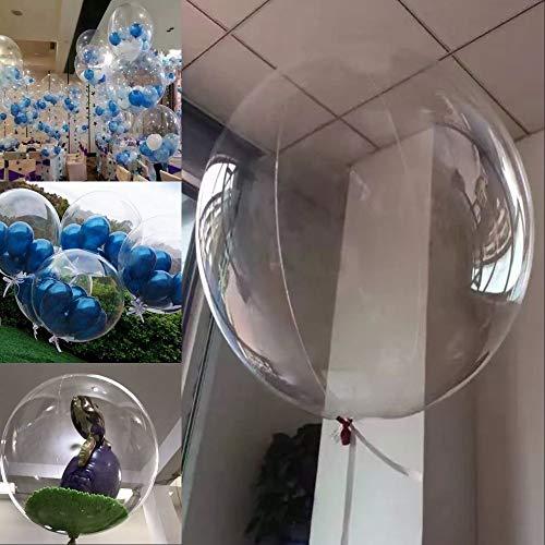 Faderr 18 inch transparante ballonnen, set van 10 ronde bubble decoratie ballonnen, gevuld met helium, partij ballonnen voor verjaardag bruiloft verjaardag kerstversiering