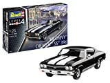 Revell-1968 Chevy Chevelle SS 396, Escala 1:25 Kit de Modelos de plástico, Multicolor, 1/25 (Revell 07662 7662)