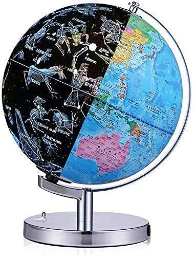 Bluetooth Constellation World Globe para adultosktop Geography Educational Earth Globe con lámpara de luz de noche LED, Mapa político y constelación Vista Cascada mei (Size : 32cm/12.6inch)