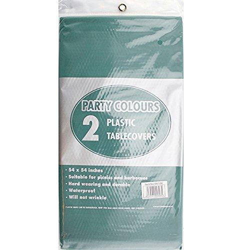 En plastique Vert 2 x nappes 137 x 137 cm de table de haute qualité facile à nettoyer-livraison gratuite