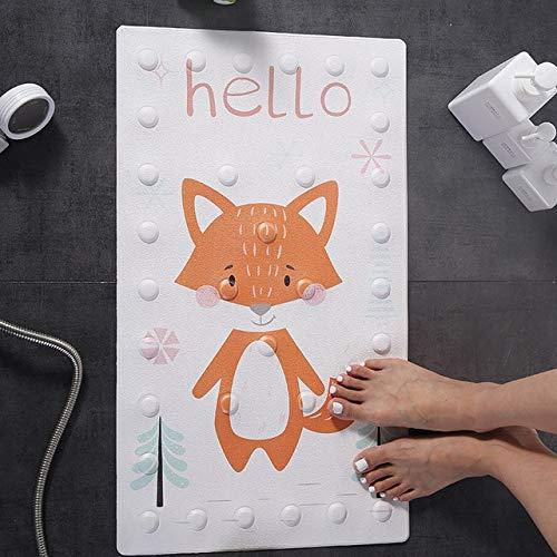 1 ventosa baño alfombra de ducha seguridad para bebés animal de dibujos animados antideslizante alfombra de baño PU alfombra de masaje impermeable tipo C alfombra de baño de aproximadamente 40x70 cm