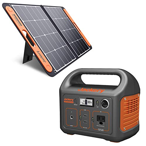Jackery Explorer 240 Solar Generator 240Wh Backup Lithium Battery 110V/200W Pure Sine Wave AC Outlet Solar Generator for Outdoors Camping Travel Hunting Emergency