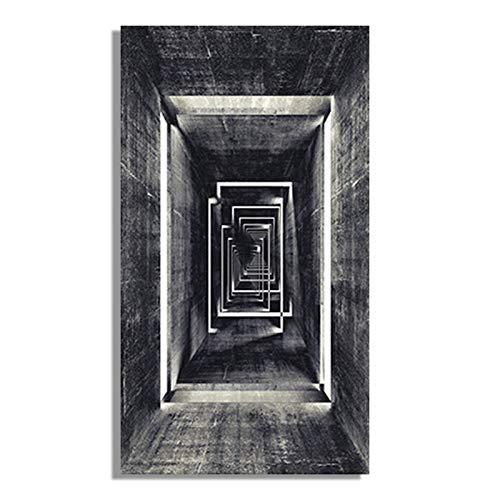 Retro abstrakte geometrische Leinwand Malerei unendlichen Korridor Poster und Drucke Wandkunst Studio Cuadros nach Hause rahmenlose dekorative Malerei A131 40x60cm