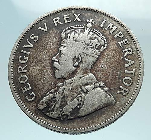 1932 ZA 1932 SOUTH AFRICA under UK King GEORGE V AR 2 1/2 Denomination_in_description...